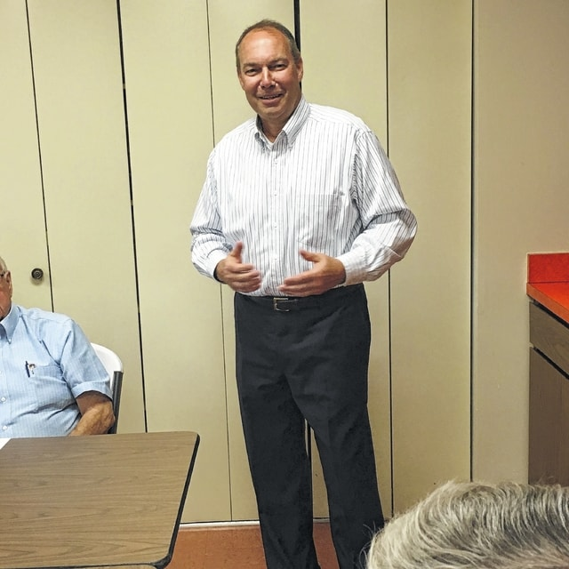 State Sen. Bob Peterson was the featured speaker at a recent meeting of the Fayette/Madison County Ohio Public Employee Retiree Systems.