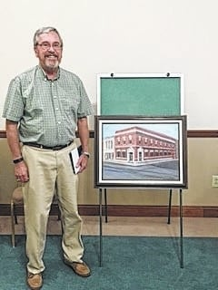 Bob Timmons was presented a Citizen Honor Award and a gift card from the City of Washington Court House at the city council meeting held Wednesday, Aug. 10. Timmons presented a picture that a friend of his mother's had painted when the City Building was a bank that Timmons had managed. He since then has been retired and the building is now the City Administration Building. The painting is now displayed at the City Administration building.