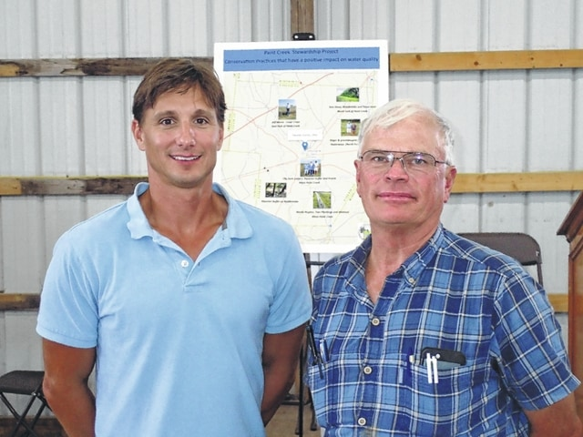 Re-elected FSWCD supervisors Richard Davidson (left) and Jim Garland.