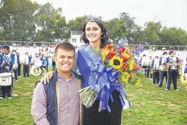 The Washington High School student body celebrated homecoming by nominating and voting for the king and queen, as they do each year. Jake Waters was named the homecoming king and Jazzy Robinette was named the homecoming queen during the Friday night football game versus East Clinton.