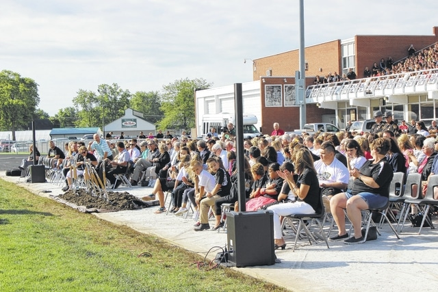 The Miami Trace Local School District held a groundbreaking ceremony Thursday morning as they prepared to complete the puzzle with a new high school scheduled to open in 2019.