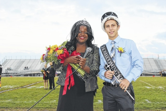 Miami Trace High School celebrated homecoming with a week of festivities including the court introduction at Friday night's game versus McClain. The homecoming queen and king were Daria Thomas and Thomas Bondi.
