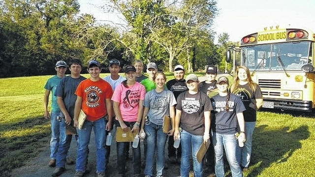 Thirteen students from Miami Trace/Great Oaks FFA recently competed in the District 9 FFA Soil Judging competition.