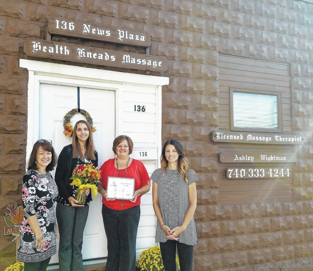 Health Kneads Massage recently celebrated its one-year anniversary with the Fayette County Chamber of Commerce.