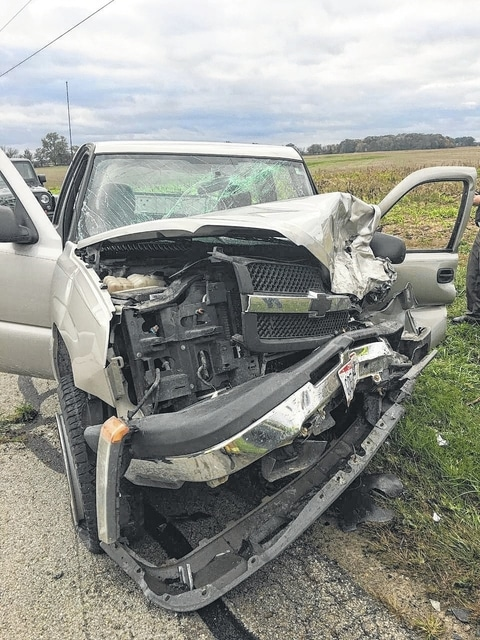 Eighteen-year-old Austin Payton was airlifted to Grant Medical Center Friday after his pickup truck was involved in a head-on collision with a truck driven by Donna Stacey, who was transported to Fayette County Memorial Hospital.