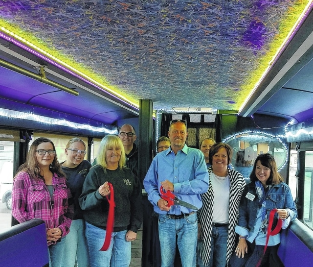 A ribbon cutting was recently held by the Fayette County Chamber of Commerce for the Bus Excursions LLC.