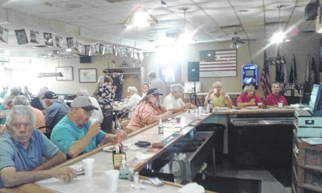 All veterans are encouraged to attend the free American Legion Post 25 breakfast even if they are not a member of the American Legion. The cost to non-veterans is $7 and will be available from 8 to 10 a.m. Pictured are veterans and non-veterans who participated in the recent breakfast.