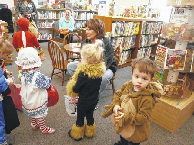 Toddlers were on parade recently throughout Jeffersonville Branch Library as part of Miss Bonnie's Story Hour. The participants listened to stories, gathered candy while parading throughout the library, played instruments, had fun with friends and danced.