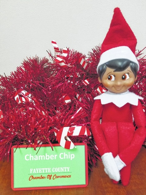 The Fayette County Chamber of Commerce will award over $1,700 in prizes through a Elf on the Shelf promotion.