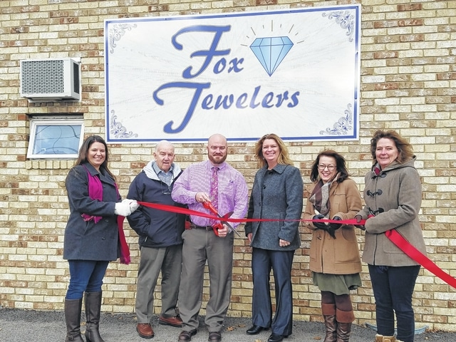 Fox Jewelers was welcomed into the Fayette County Chamber of Commerce recently by the Ambassador team. The father-son duo of Don and Jason Fox have been in business together for 30 years and most recently made the move to 296 Blackstone St. this year.