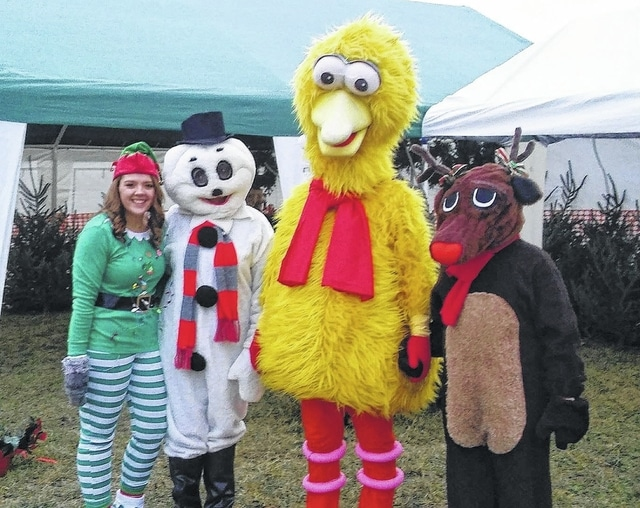 Elf, Frosty, Big Bird and Rudolph were helping out at the Wishes for Christmas event at Washington Park over the weekend.