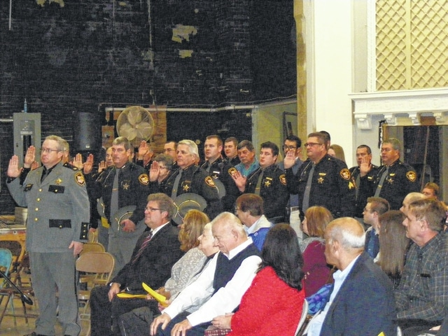 Fayette County Sheriff Office deputies were in attendance when Sheriff Vernon Stanforth was sworn in for his sixth term Sunday.