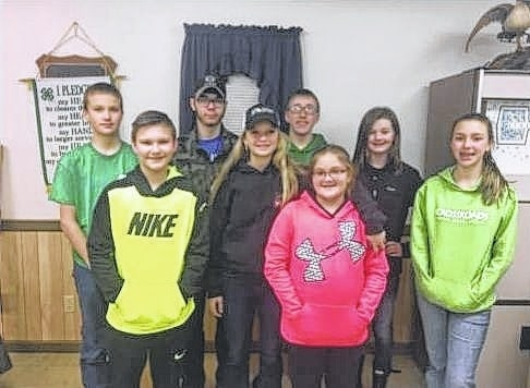 New officers were elected at a recent Fayette Firearms 4-H club meeting. Front row, from left to right, Jayden Brown, Anita Pursell, Mallori Mitchem and Alex King; back row, from left to right, Kyler Batson, Jacob Brown, Ben Speakman and Lexi Hagler.
