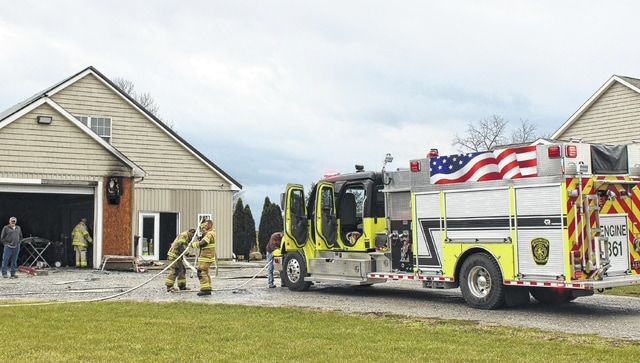 The Concord Greene Fire Department responded Thursday afternoon to a small structure fire at 8618 Miami Trace Road. No one was injured.