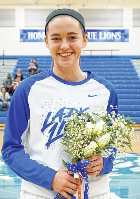 Washington High School honored the one Lady Lion senior, Savannah Wallace, prior to the game against Wilmington Saturday, Feb. 4, 2017.
