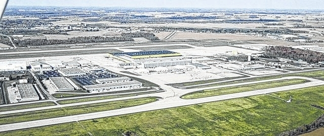 The Wilmington Air Park from above. Amazon announced Tuesday that it would base its air cargo service at Cincinnati/Northern Kentucky International Airport.