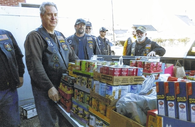 The American Legion Post 25 Riders held their Polar Bear Run on New Year's Day, raising a truckload of food items. The riders recently delivered the food to The Well at Sunnyside. Riders Vice President Brian Finney thanked the members who helped to cook and serve breakfast, and said that everyone had a super time and that he is looking forward to doing this again in 2018.