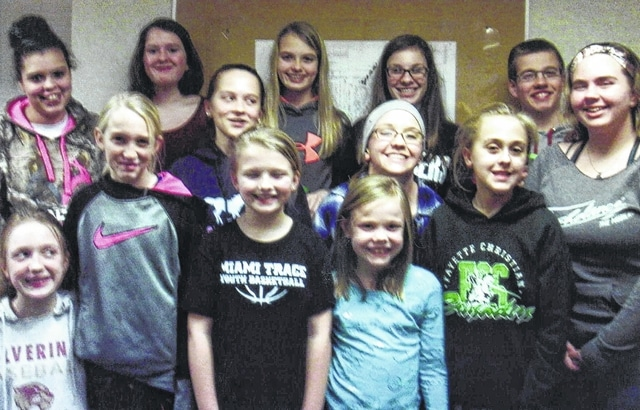 The Fayette County All-N-One 4-H Club members for 2017 are: Front row: Cali Kirkpatrick and Alora Self. Middle row: Garren Walker, Trinity George, Katy Kotlinski, Skylynn Barden and Trinity Hixon. Back row: Anya Matthews, Mary Gerber, Hidy Kirkpatrick, Madison Johnson, Thomas May and Kalila Wilson. Absent were: Abby Arledge, Peyton Johnson, Lorelei King, Lucas King, Gabbie Miller, Victoria Miller, Taylor Perkins and Andrea Robinson.