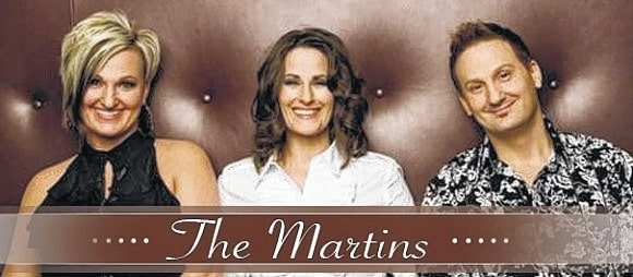 The Martins will perform at Heritage Memorial Church on March 11 and 12.