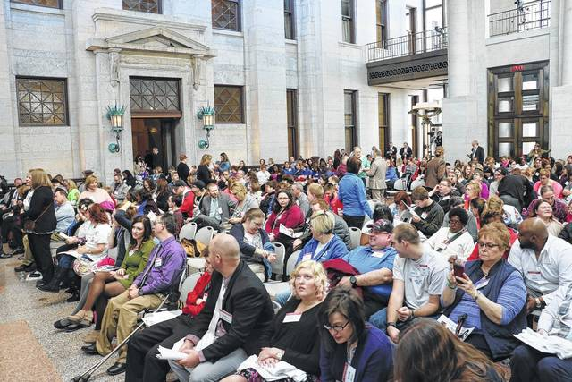 A large crowd was in attendance March 8 for the Ohio Developmental Disabilities Awareness & Advocacy Day at the Ohio Statehouse.