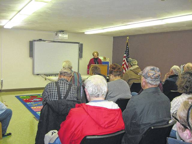 A large crowd attended the previous meeting of the Fayette County Genealogical Society.