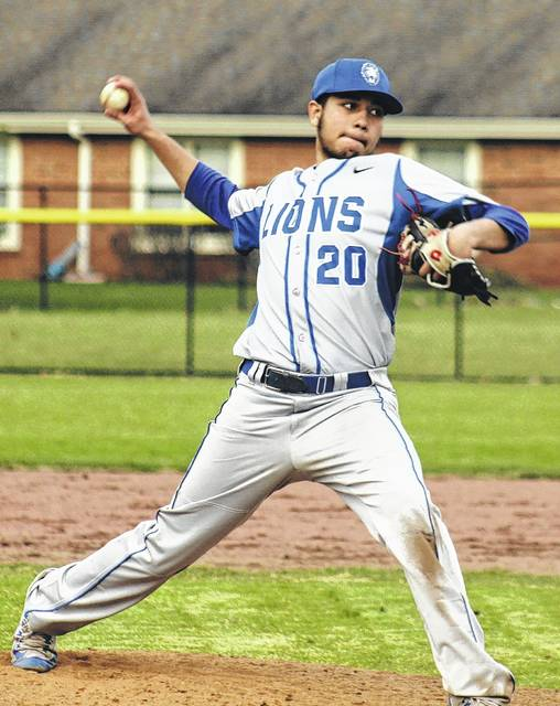 Washington junior Kenny Arboleda started against Southeastern on Monday, March 27, 2017 and pitched a complete game, two-hitter for the win.