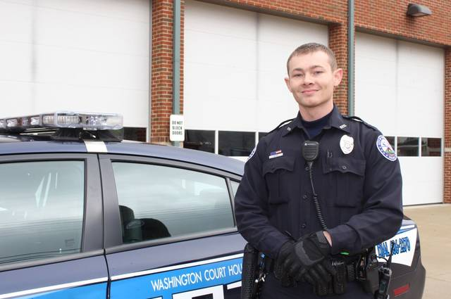 Police officer Ricky Musser has been working with the Washington Court House Police Department for five months.