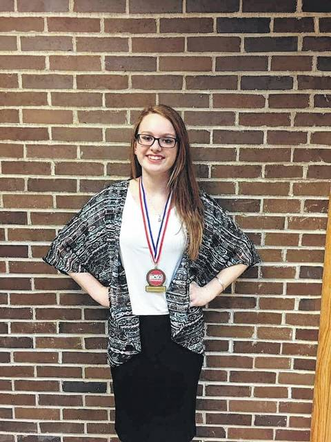 On March 9 and 10, the junior and senior high students from the Fayette Christian School competed in the annual Bible, academic, and fine arts competition. Pictured is Cheyenne Williams who took first place in posed photography.