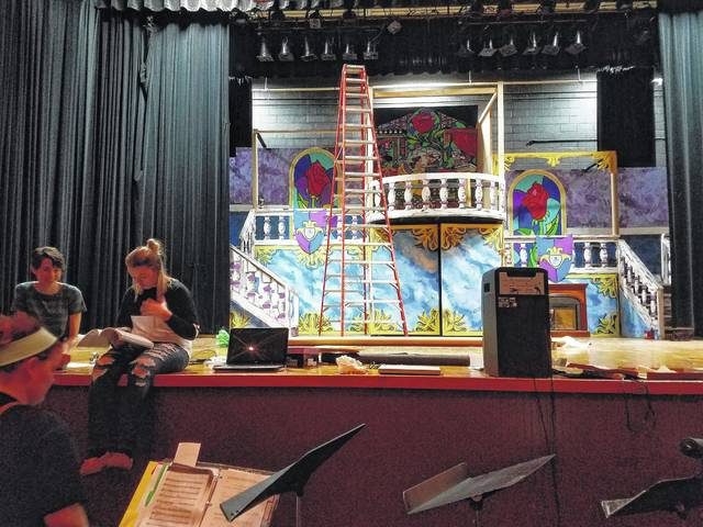 The Miami Trace High School cast and crew of the upcoming Beauty and the Beast musical has invited the community to join them in celebrating the 25th anniversary of the Disney film. Director Holly Stanley, volunteers and students worked to complete the set and memorize songs and lines as they near show time.