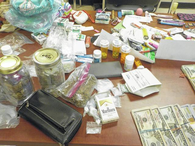 A large amount of drugs and cash was recovered from Regina O'Conner's vehicle July 19. O'Conner was originally arrested for stealing items from the Kroger store in Washington C.H.