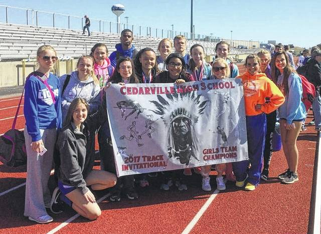 The Washington Lady Blue Lion track team won the Cedarville Invitational Saturday, April 8, 2017.