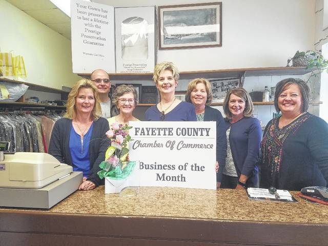 The Fayette County Chamber of Commerce is pleased to name Sunshine Laundry & Dry Cleaning its May Business of the Month. Gamma White is a second-generation owner. Her parents bought the business in 1976 and she took it over in 1982. The 122 E. East St. building in Washington C.H. itself has been a dry cleaning business for over 80 years. Sunshine has six employees who provide dry cleaning, wedding gown preservation, alterations and tuxedo rental.