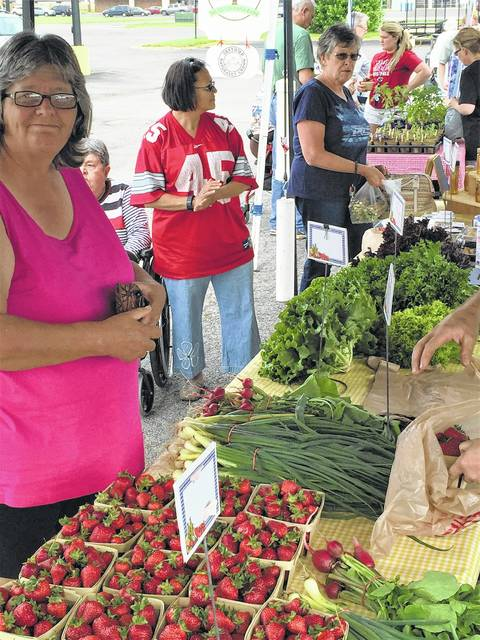 Farm fresh produce was readily available at the Fayette County Farmers' Market in May of 2016. The market makes its highly-anticipated return this Saturday in downtown Washington C.H.
