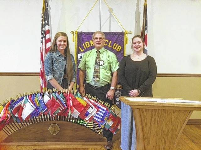 At their May 9 meeting, the Washington Lions Club awarded two college scholarships to very deserving high school seniors. The recipient from Washington High School was Savannah Wallace, the daughter of Todd and Barbie Wallace, who plans to attend Shawnee State in the fall. From Miami Trace, the recipient was Shelby Mulford, the daughter of Cheryl Turner and John Mulford, who has enrolled at the University of Wyoming. With their parents in attendance, the seniors and Lions Club members heard some motivational words from former Miami Trace superintendent Dan Roberts. The club then discussed their upcoming fundraiser that helps provide these scholarships, as well as other projects of the club. Anyone interested in membership can contact Lion Roger Parsons at (740) 335-5267. Pictured (L to R): Scholarship recipient Savannah Wallace, Lions Club President Ray Deeks, and scholarship recipient Shelby Mulford.