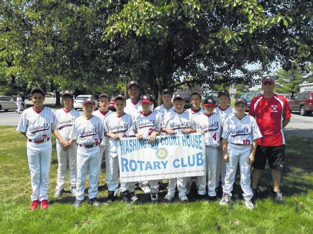 The Washington Rotary Club is celebrating Little League's 63rd anniversary by sponsoring a Fish Fry this Friday from 4 to 7 p.m. at the Mahan Building. Pictured is an old Washington C.H. Little League All-Star Team promoting the Rotary Club.