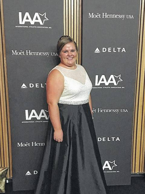 Paige Bonham recently attended the International Athletic Association's Jesse Owens Awards Gala at the Lincoln Center in New York City.