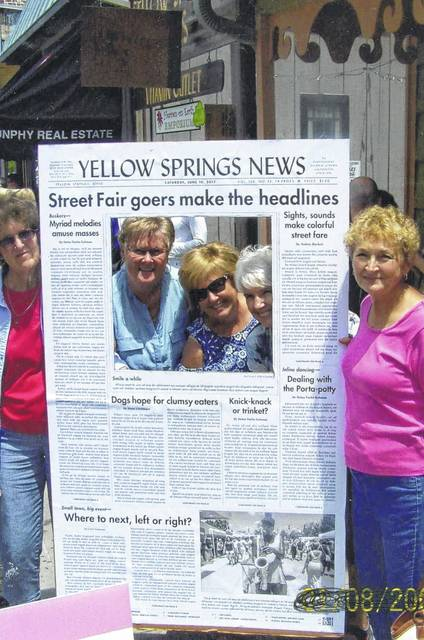 In June the Deercreek Daisies ventured to the village of Yellow Springs to discover more about this area. Pictured (L to R): Barbara Vance, Judy Gentry, Billie Lanman, Julie Schwartz and Marty Cook.