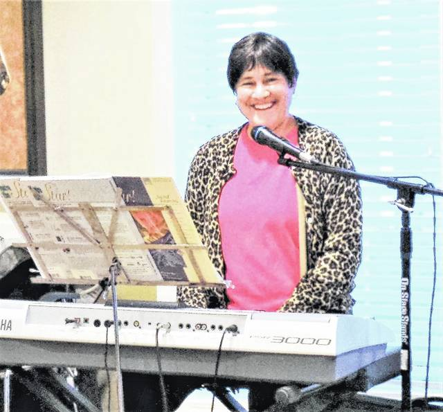 Cassandra (DeLay) Furlong will entertain at the keyboard during the open house before and after the re-dedication service.