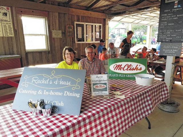 McClish's Plants Plus Greenhouses LLC was the Fair Sponsor of the Day Thursday at the Fayette County Fair and met with Cattlefeeders' patrons as they came in for dinner.