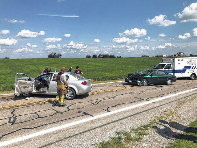 Two individuals were seriously injured Friday during this collision on State Route 41 between Jeffersonville and South Solon.