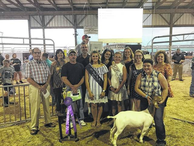 The Fayette County Junior Fair Hog and Goat Sale was held Thursday evening. The sheep and cattle sales are scheduled for this evening.