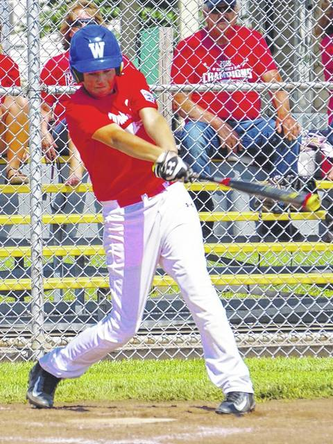 Drew Guthrie gets the game-winning hit for the Washington C.H. 12-year-old all-stars during their opening game at State against District One champions Jefferson, Saturday, July 15, 2017 at Maumee. Guthrie's hit drove in pinch-runner Tate Landrum with the game's only run for the all-stars.