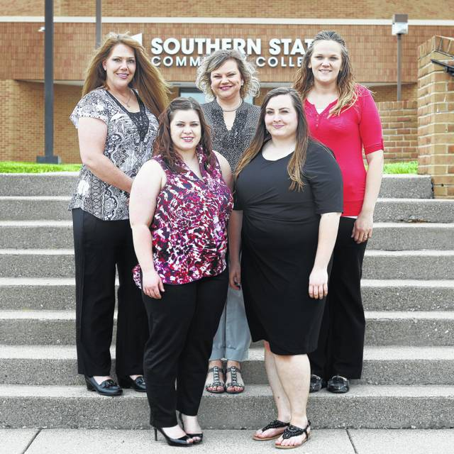 The 19th graduating class of Southern State Community College's Billing & Coding Specialist program includes: (front, l-r) Kennedy McWhorter, Ciera Wright; (back, l-r) Laura Lovlie, Danette Kelch, and Brittany Swisshelm.