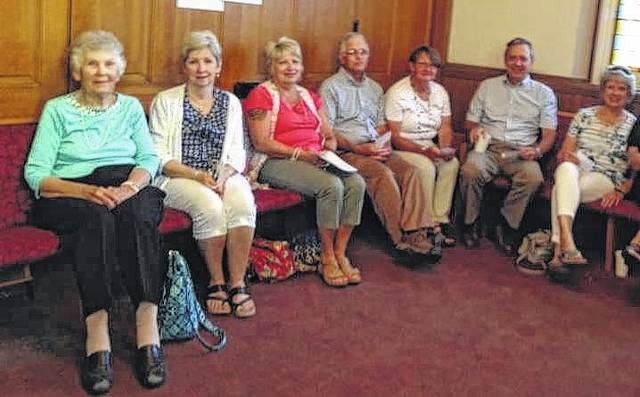 The First Presbyterian Sunday school class, consisting of Miriam Engle, Maggie Glass, Susan Waddle, Don and Sara Creamer, Dick Glass, Linda Maurer and Mary Stolsenberg, recently heard about a South Sudan mission trip.
