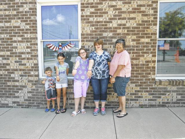 Jeffersonville Branch Library's Miss Bonnie recently held a Patriotic Bracelet Workshop just in time for Independence Day. Some of those attending were Sam, Annabel, Lilly, Holly and Kay.