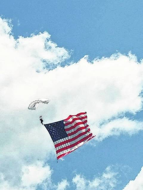 Saturday's Fayette County Open House/Fly-In at the county airport Saturday included a skydiving show.