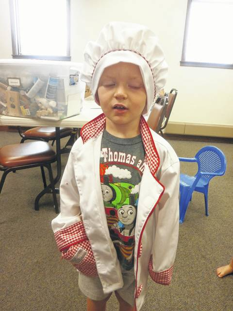 Summer fun at Jeffersonville Branch Library. These little people absolutely loved playing in the costumes at the library. Cole was the chef.