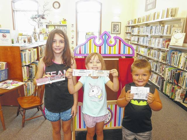 All summer kids and adults alike had opportunities to read, read, read for chances for prizes in the annual Carnegie Public Library's (both Washington Court House and Jeffersonville locations) Summer Reading Program. Some of Jeffersonville Branch Library's Summer Reading Program prize winners were Annabel Smallwood, King's Island tickets, Gabriella Webb, Newport Aquarium tickets and Jaden Allen, a large pizza from Pizza Hut.