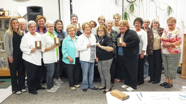 Altrusans are excited about their upcoming luncheon Oct. 21. Members shown left to right Melynda Iles, Mary Sue Spengler, Kay Walker, Brenda Mossbarger, Jeannie Bihl, Alice Craig, Norita Craycraft, Anne Quinn, Cathy White, Sara Creamer, Teresa Combs, Janet Robinson, Sonja Seiler, Gamma White, Nancy Bennett, Troi Penwell, Nancy Mowery, Sally Begin, Elaine Crutcher and not shown taking photo is Debra Grover.