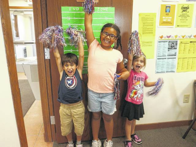Jeffersonville Branch Library was the place to be recently for a fun and exciting Cheerleading Party.